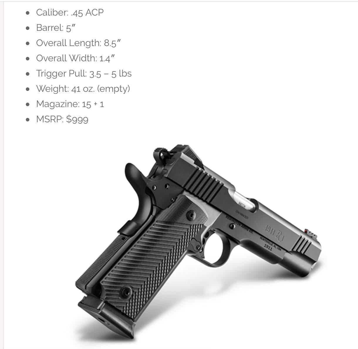 Remington R1 1911  45 Double Stack | Northwest Firearms - Oregon