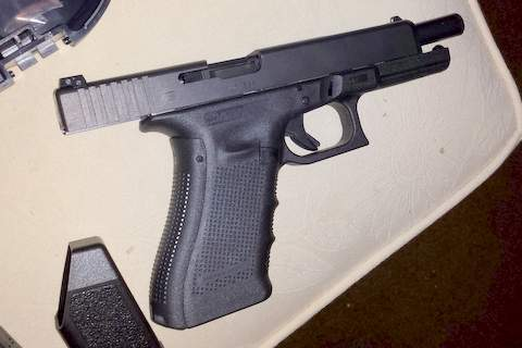 Glock 34 Gen 4 with extra ported lonewolf barrel and 200