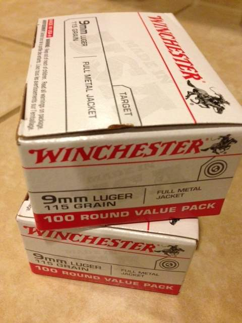 WTS OR - Winchester 9mm ammo  Ammunition 9 MM WWB 100 round