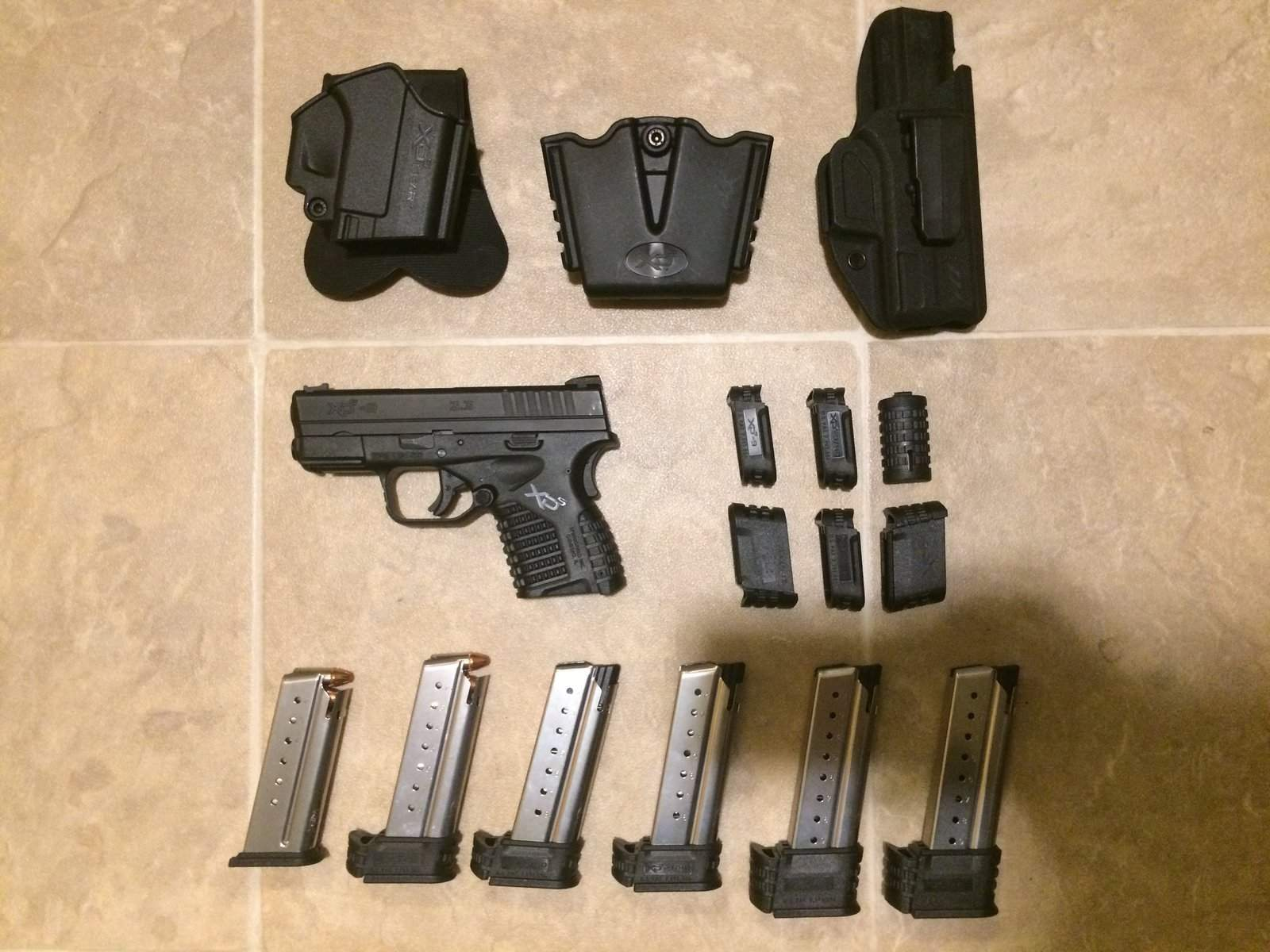 WTS OR - Springfield XDS 9mm w/ three holsters, six mags, etc