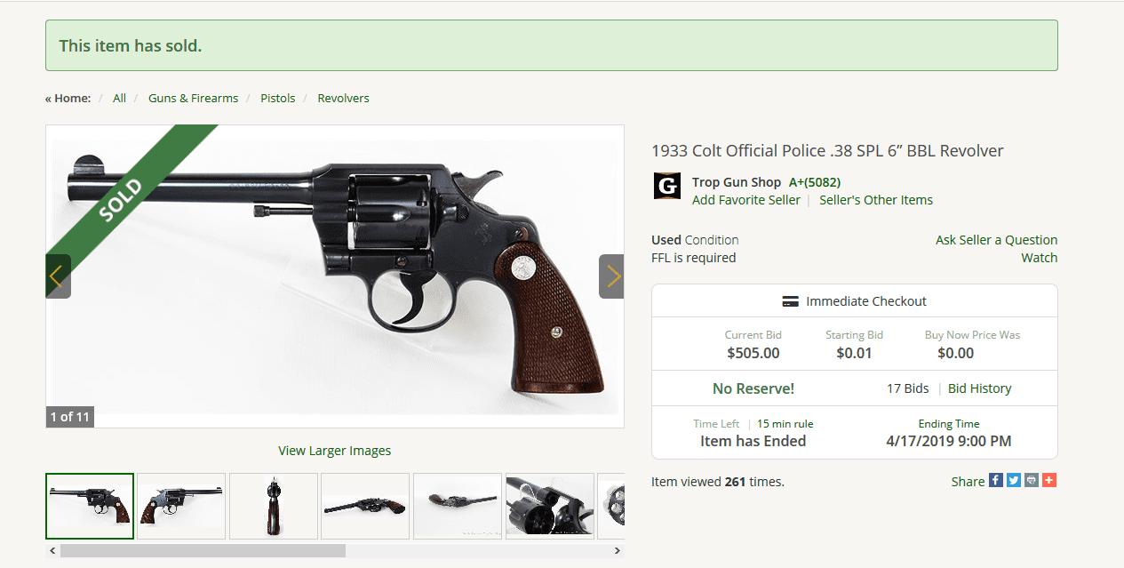 """Screenshot_2019-05-25 1933 Colt Official Police 38 SPL 6"""" BBL Revolver.png"""